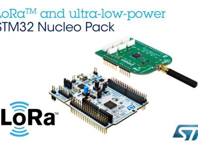 Priced at just $40, the P-NUCLEO-LRWAN1 kit combines the ultra-low-power STM32L073 Nucleo (NUCLEO-L073RZ) microcontroller board with an RF expansion board based on the proven SX1272 LoRa transceiver from Semtech (I-NUCLEO-SX1272D).