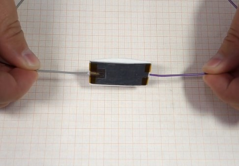Electricity from cardboard, a pencil and Teflon tape
