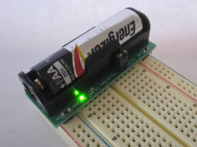 AA battery booster for breadboards