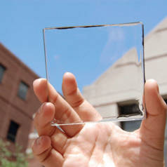 Free electricity from transparent coating, soon? (image courtesy MIT)