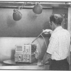 Saturday afternoon: give your oscilloscope a good wash-down