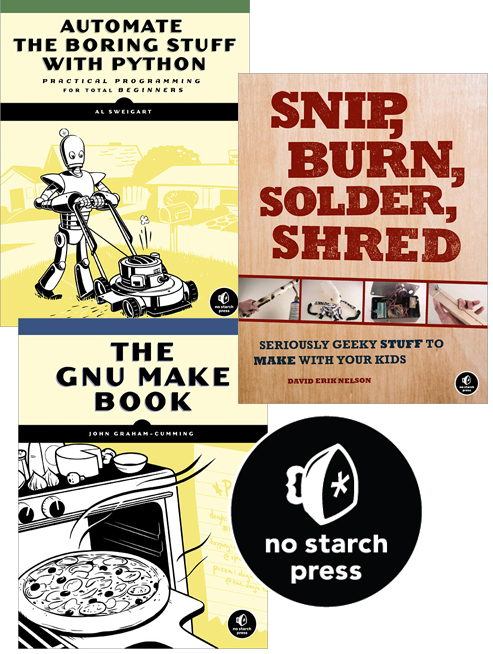 No kidding! Elektor adds No-Starch books to product line