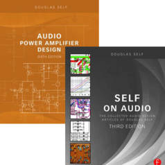 Alert to audio fans: Douglas Self books now available from Elektor