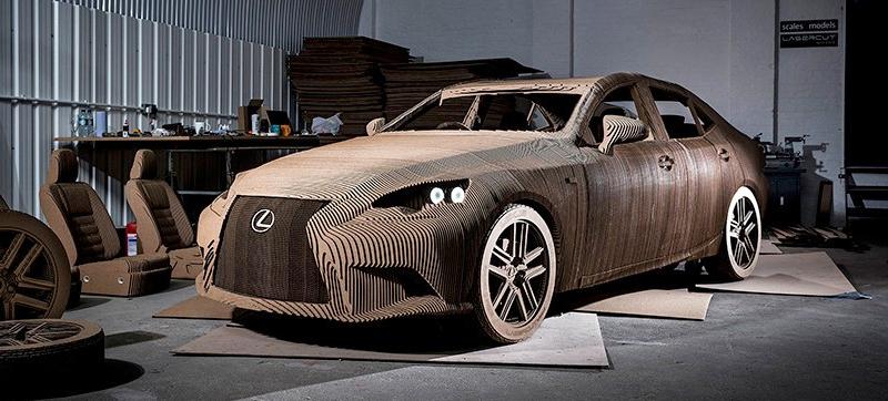 Lexus Cardboard Electric Car