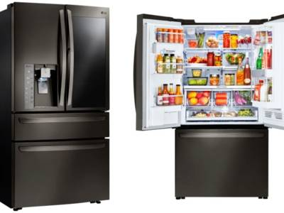 LG Instaview smart fridge @ CES 2017