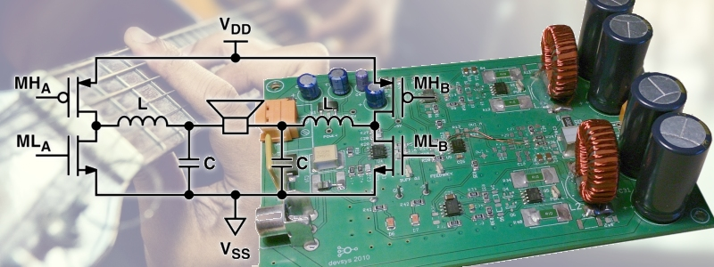 Build a Class D audio amplifier