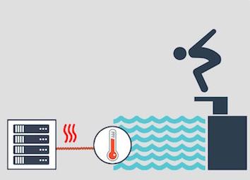 In Paris, servers heat the swimming pool