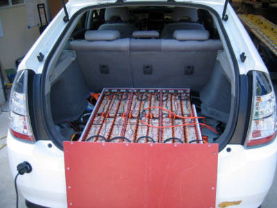 Toyota Prius Lithium-ion battery pack, with cover removed
