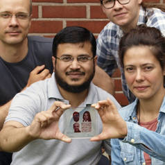 Inkjet printing of text or photos as solar cells.