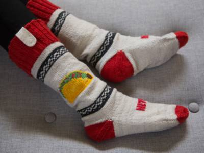 With these socks you never miss a scene again