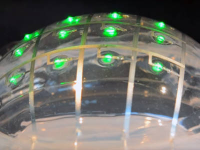 Printed circuits that stretch like rubber