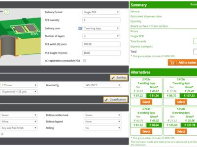 The Eurocircuits PCB Configurator