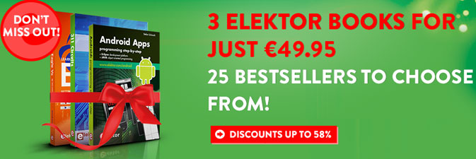 Only two weeks left to save up to 58% on Elektor books