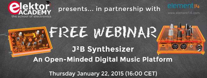 Join Elektor's Free J²B Synthesizer Webinar