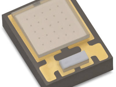 Miniature UV LED with high power density