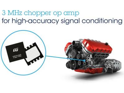 Chopper op-amp has excellent speed/power consumption ratio