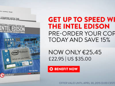 New book from Elektor: Getting Started with the Intel Edison