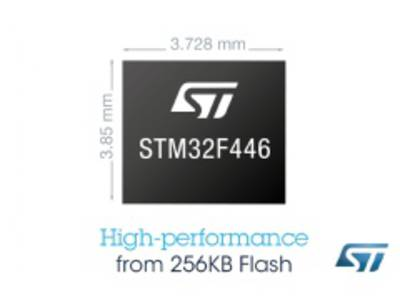 The STM32F446 from STMicroelectronics