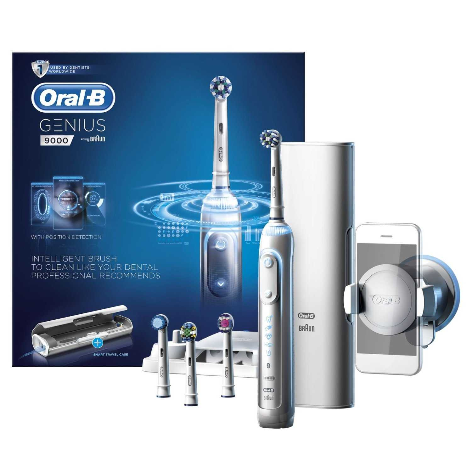 Brushing incorrectly can negatively affect oral health. To help people brush like their dental professional recommends, the Oral-B GENIUS intelligent toothbrush system combines position detection technology with pressure control and a professional timer.