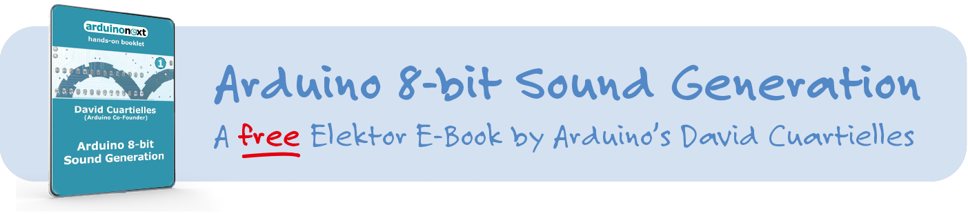 Free Arduino E-Book: 8-bit Sound Generation by David Cuartielles