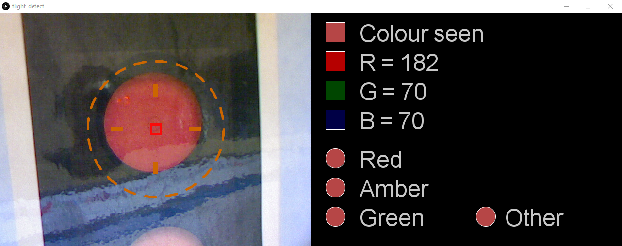 Response of tlight_detect.pde prior to learning colors