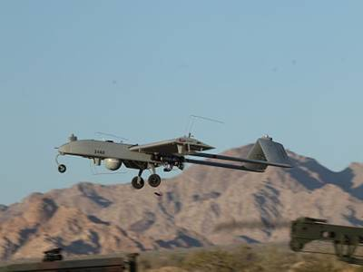 Drone launches from Speedbag Airfield, California