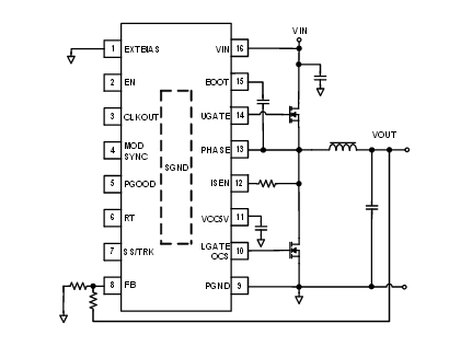 A typical application for the ISL8117