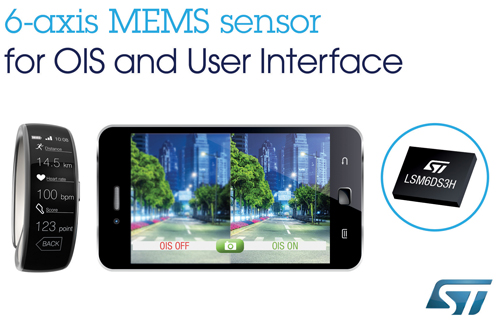 The LSM6DS3H can stabilize smartphone images
