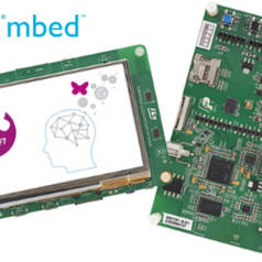 The $49 board includes a 4.3 inch touch screen