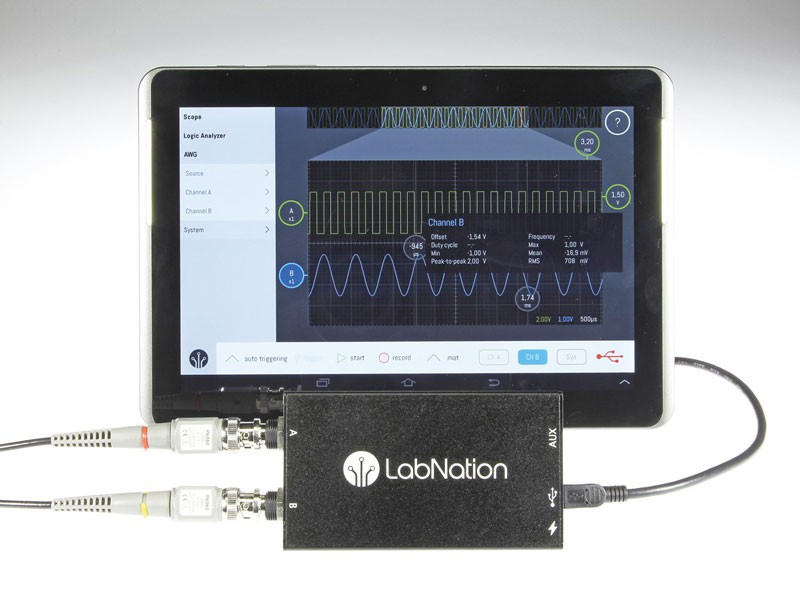 LabNation SmartScope: unique multi-platform USB oscilloscope