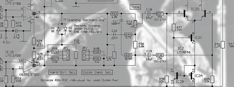 Build a guitar overdrive without opamps