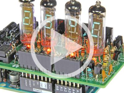 Elektor.TV | From Russia with Glow: VFD Tubes Arduino Shield