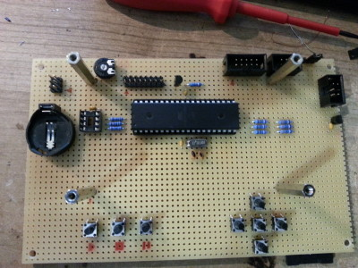 The AVR-Board (upper board of v0.2)