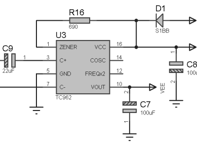 Split supply for the operational amplifiers