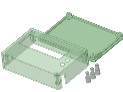 Exploded view of case