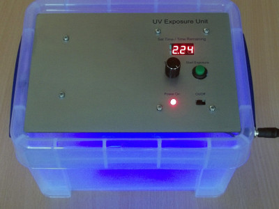 UV Exposure Unit with built in PIC-based timer