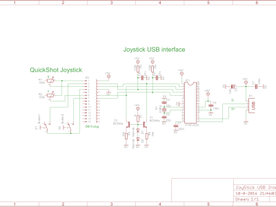 Analog Joystick to USB interface